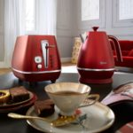 distinta flair red kettle and toaster